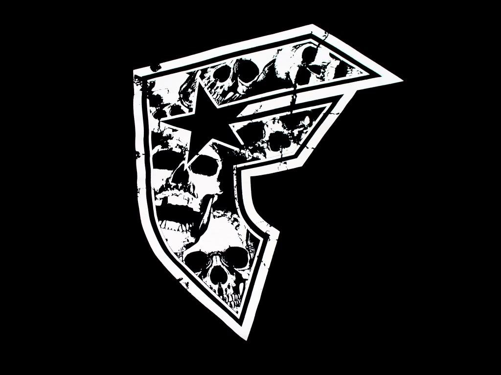 Famous Stars and Straps Logo White Black HD Wallpaper 1024x768