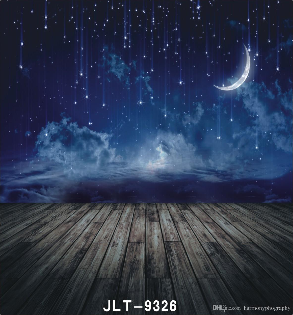 2019 Night Sky Shooting Star Moon Wooden Floor Photography 1183x1271
