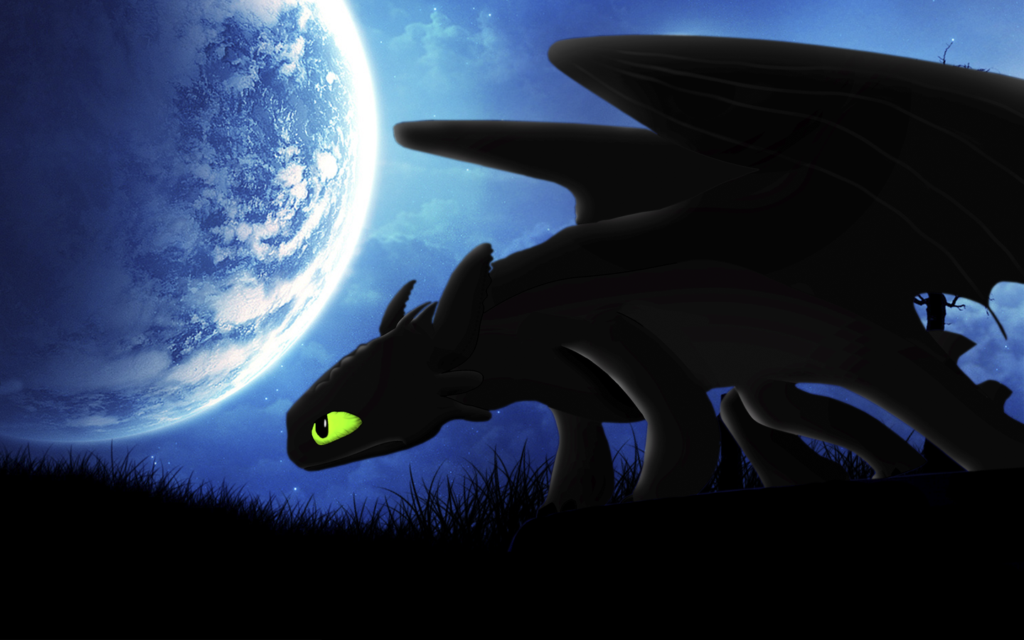 Request Night Fury Toothless Wallpaper by BlueDragonHans on 1440x900