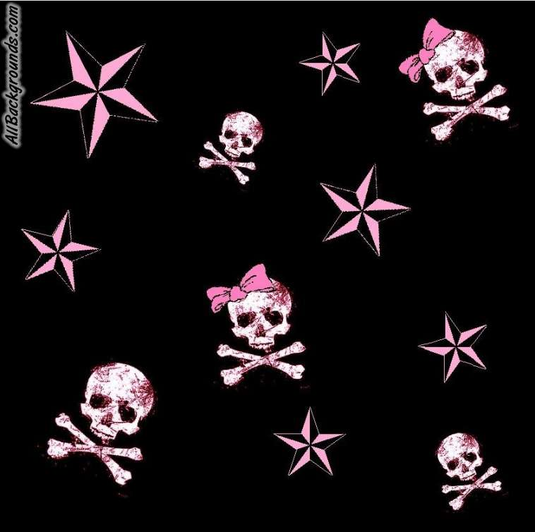 Pink skull wallpaper wallpapersafari pink skulls backgrounds twitter myspace backgrounds 758x754 voltagebd Choice Image