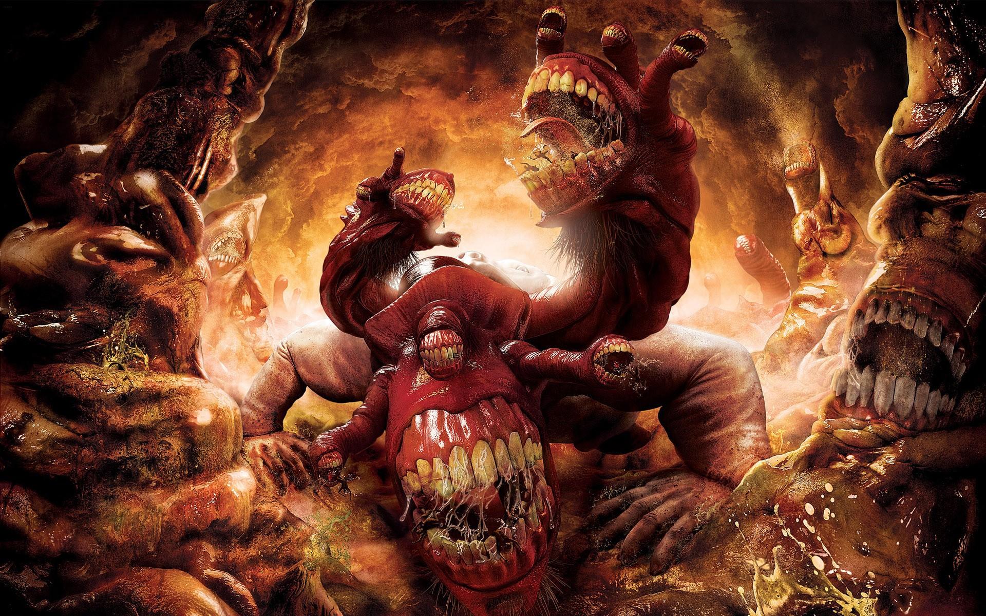Hell Gluttony Wallpaper 1920x1200 Hell Gluttony Digital Art Dantes 1920x1200
