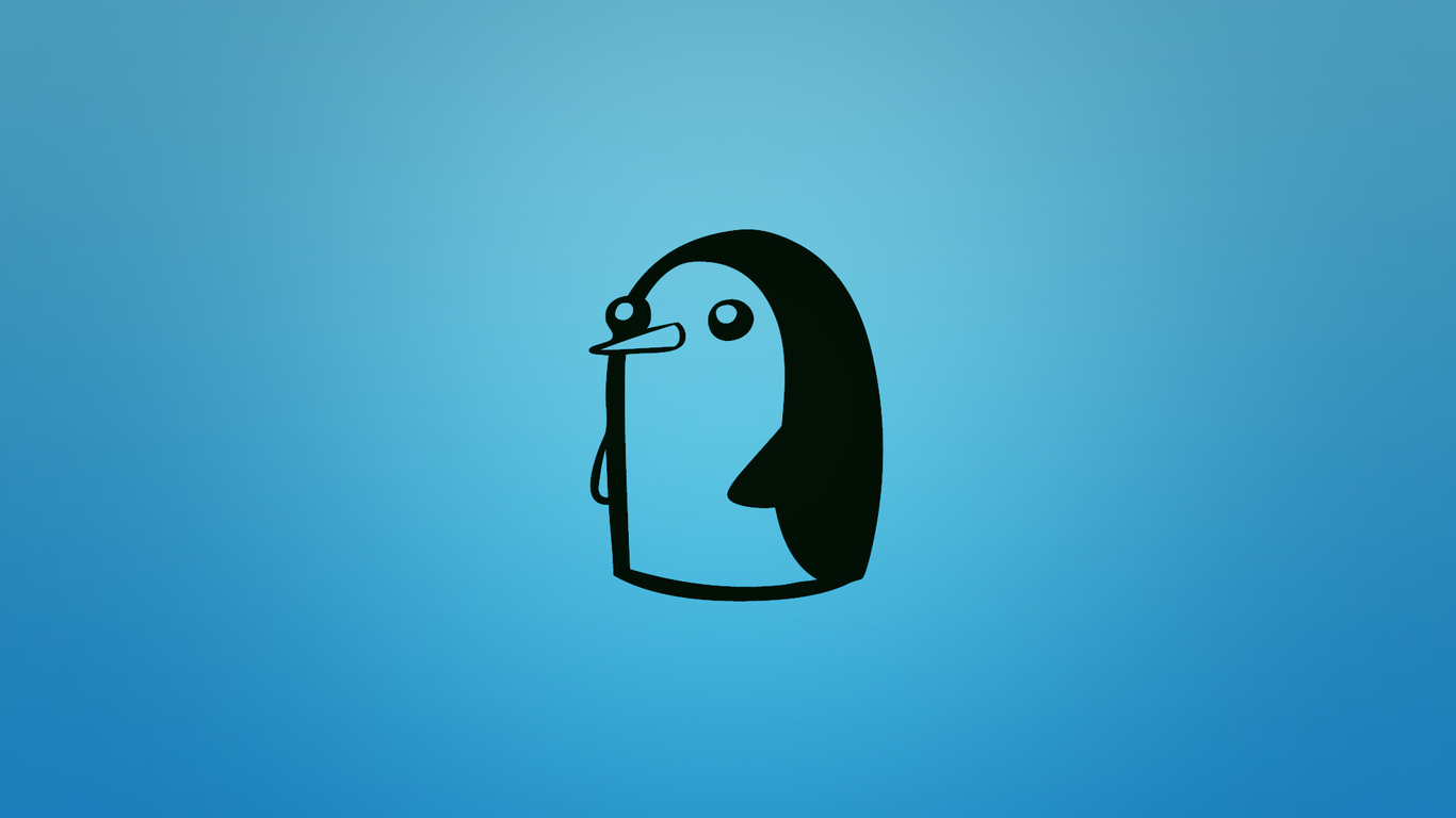1366x768 gunter penguin at adventure time adventure time 1366x768
