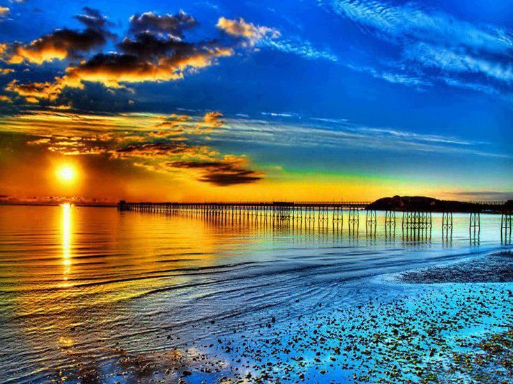 Beautiful Beach Sunset Wallpaper The Best Wallpaper and Backgrounds 736x552