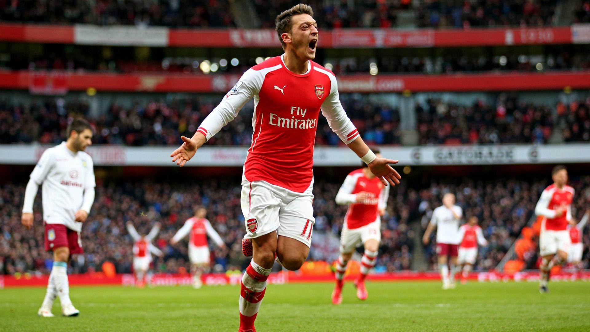 Mesut Ozil Premier League Arsenal v Aston Villa 010215 1920x1080