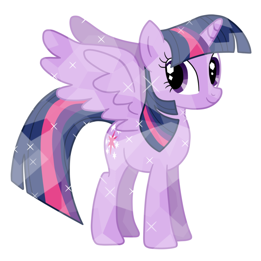 Alicorn Princess Twilight as Crystal Pony Vector by MelodyCrystel on 894x894