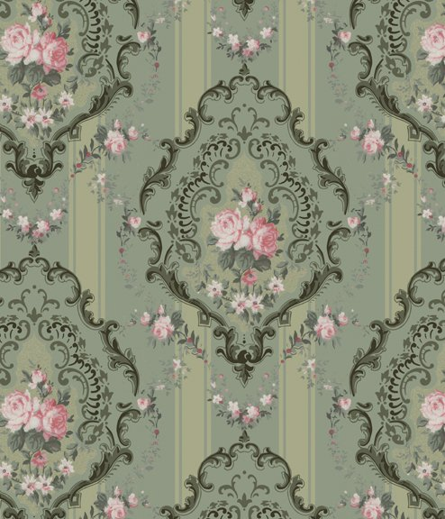 Rococo Rose   Historic Wallpapers   Victorian Arts   Victorial Crafts 494x576