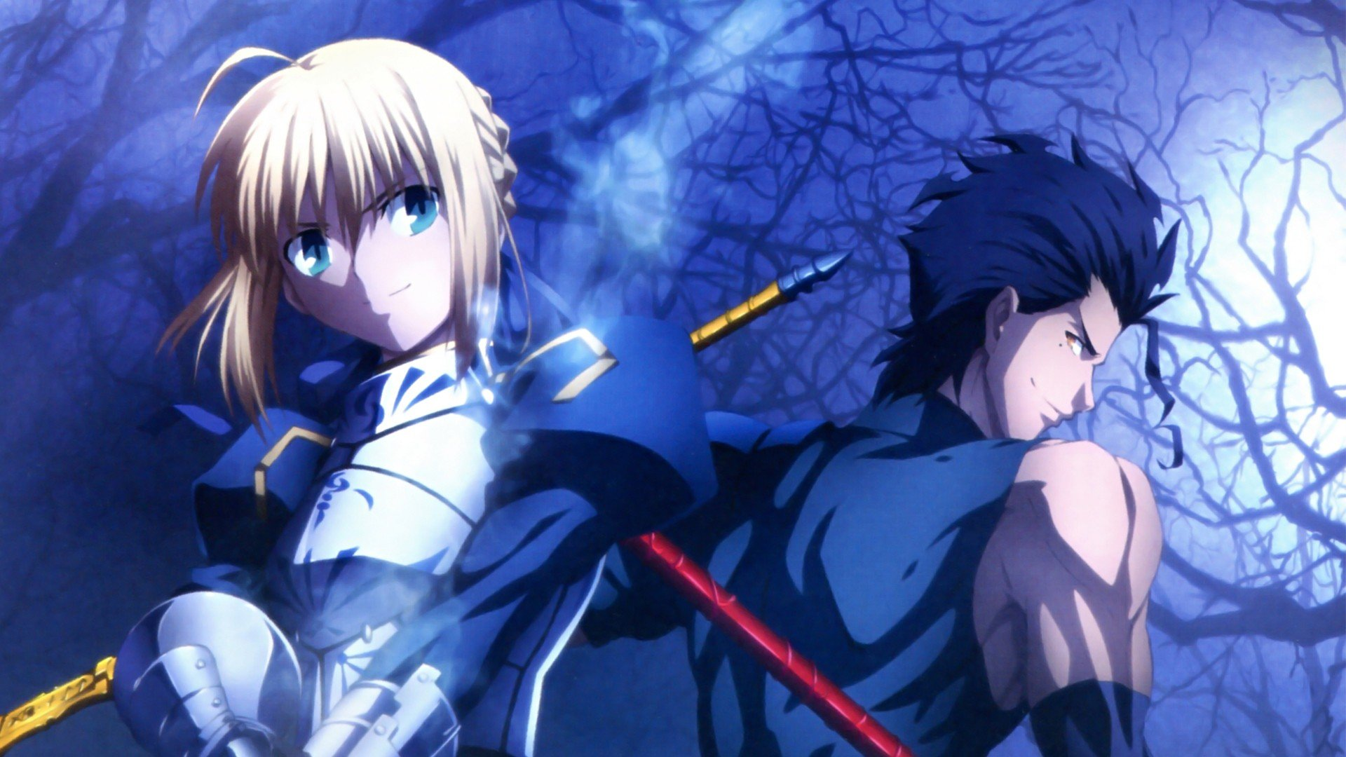 Saber FateZero Lancer FateZero Fate series wallpaper background 1920x1080