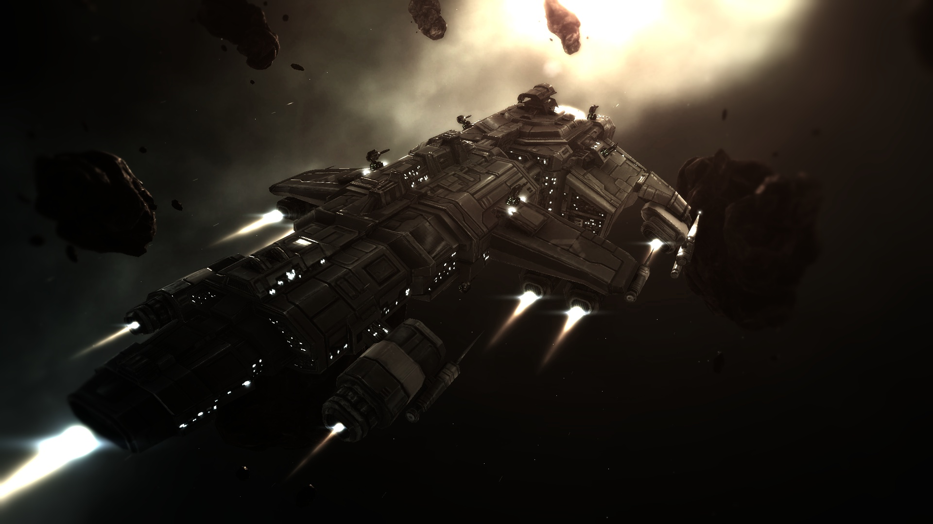 Space battleship from the game Eveonline 1920x1080