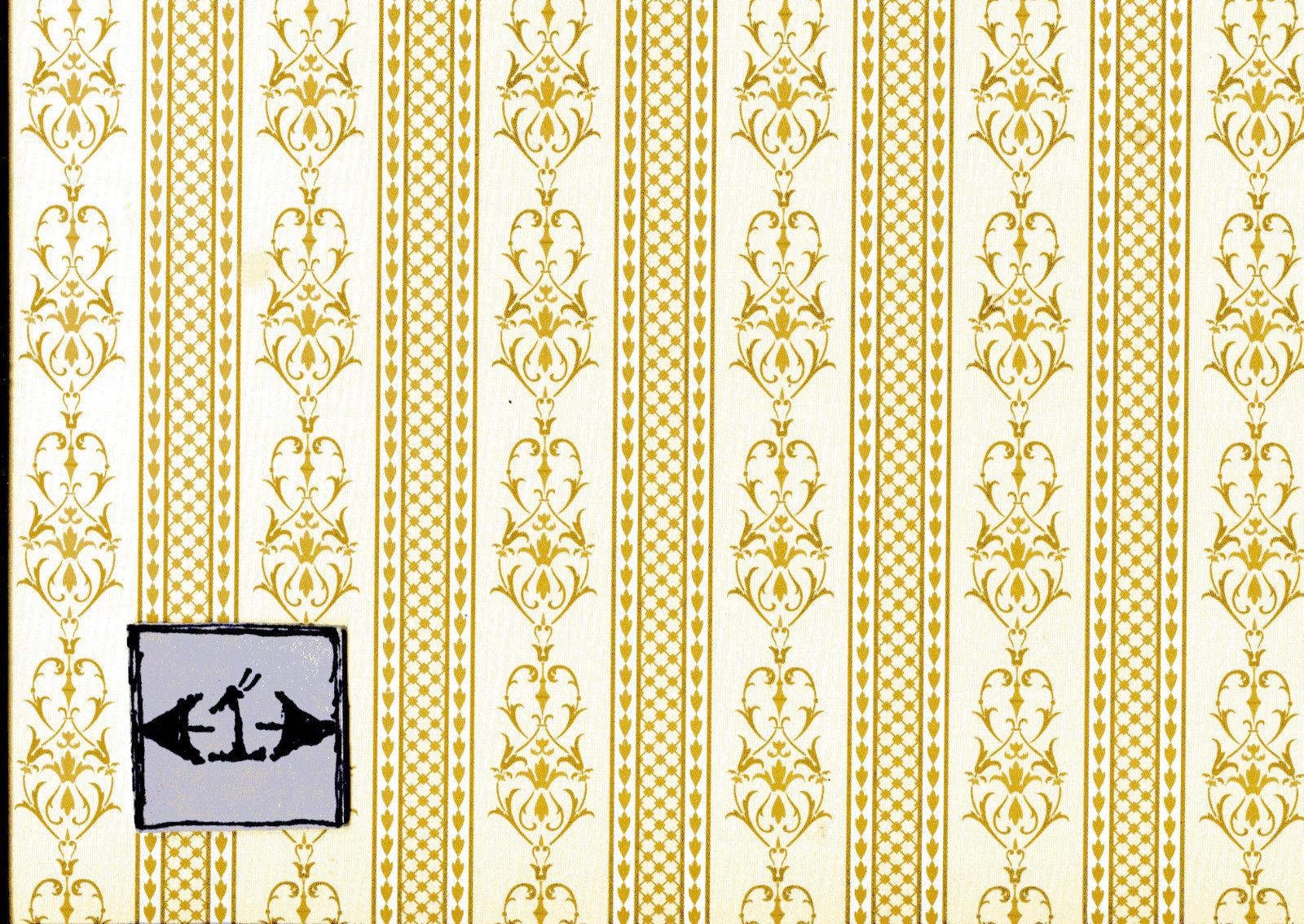 "Peach/"" 1FR110 Floral wallpaper dollhouse 1/"" scale Brodnax Prints /""Papillon"