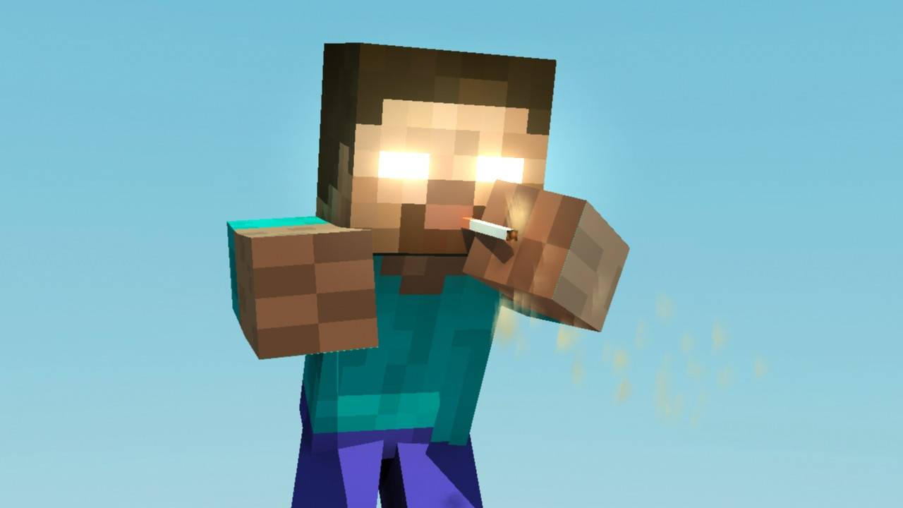 Herobrine Funny   Minecraft Wallpaper 1280x720