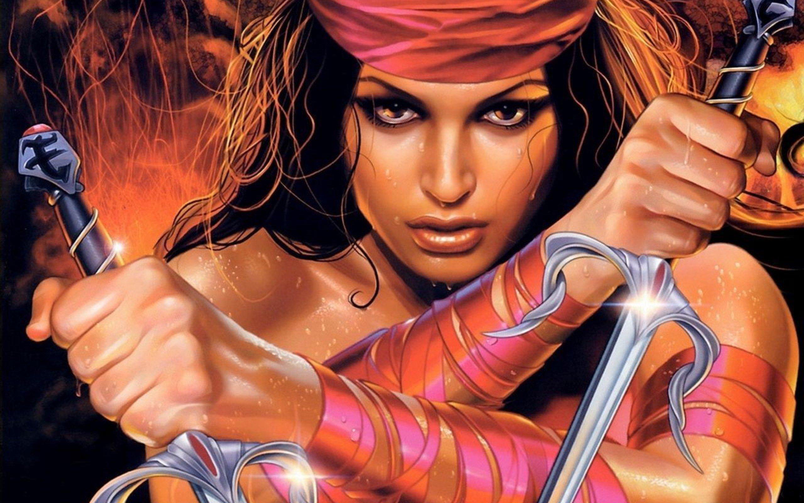 105 Elektra Marvel Comics HD Wallpapers Background Images 2560x1600