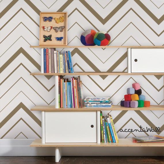 gold and white temporary wallpaper 2016   White Brick Wallpaper 570x570