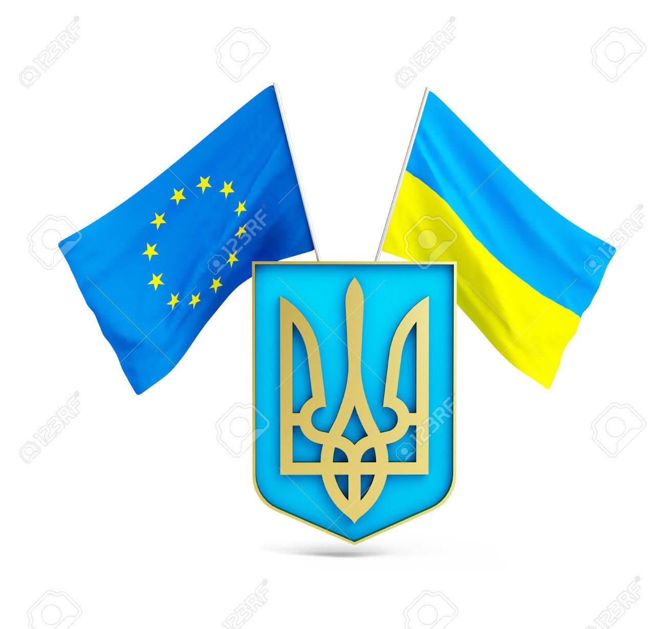 Association European Union And Ukraine Tryzub3d Illustrations 1300x1230