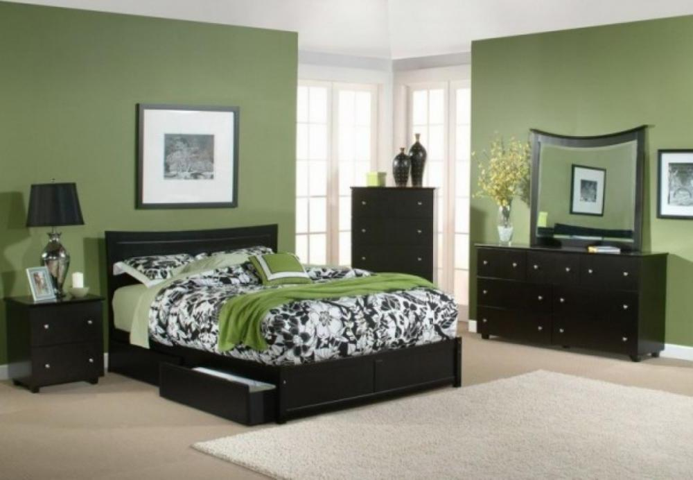 Green Color Bedrooms On Bedroom With Wallpapers Green Color Bedrooms 1000x692