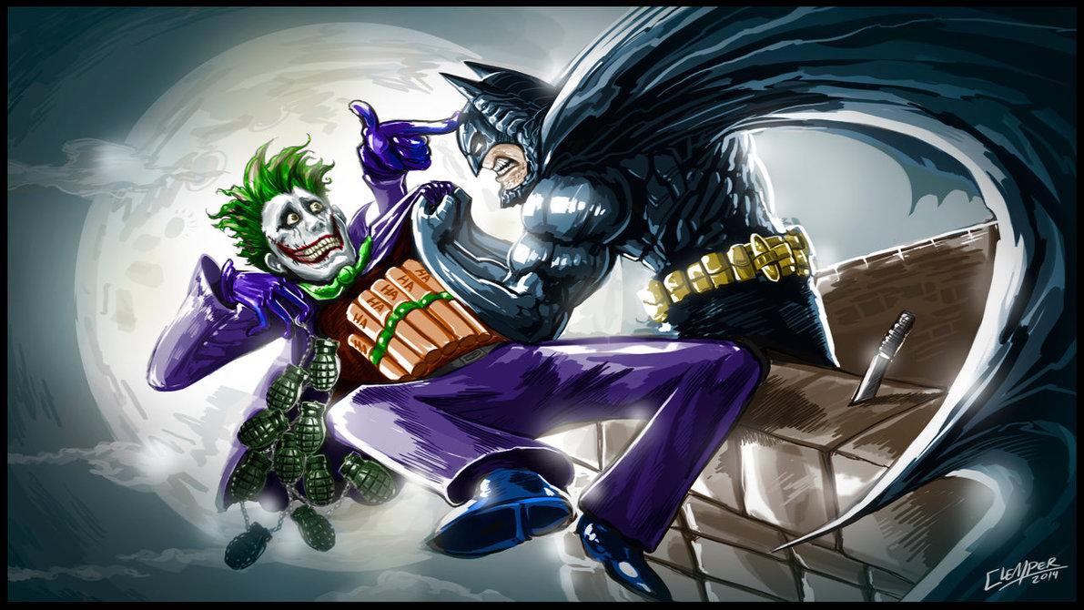 Batman Vs Joker by clemper 1191x670