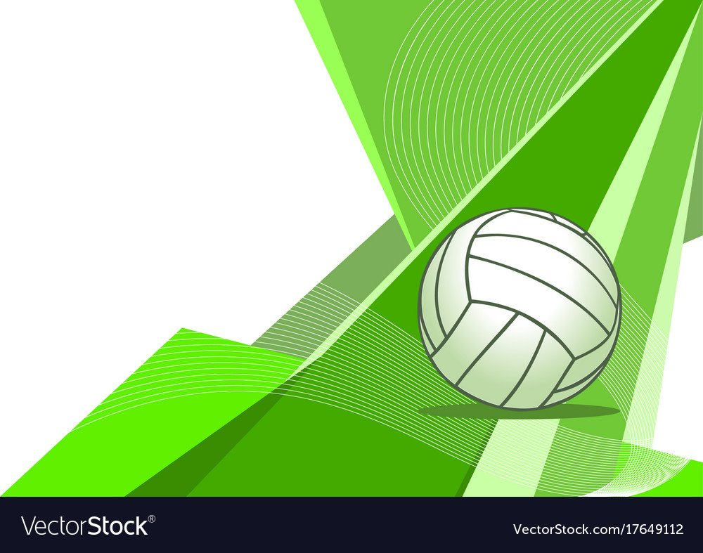 Volleyball abstract background Royalty Vector Image 1000x787