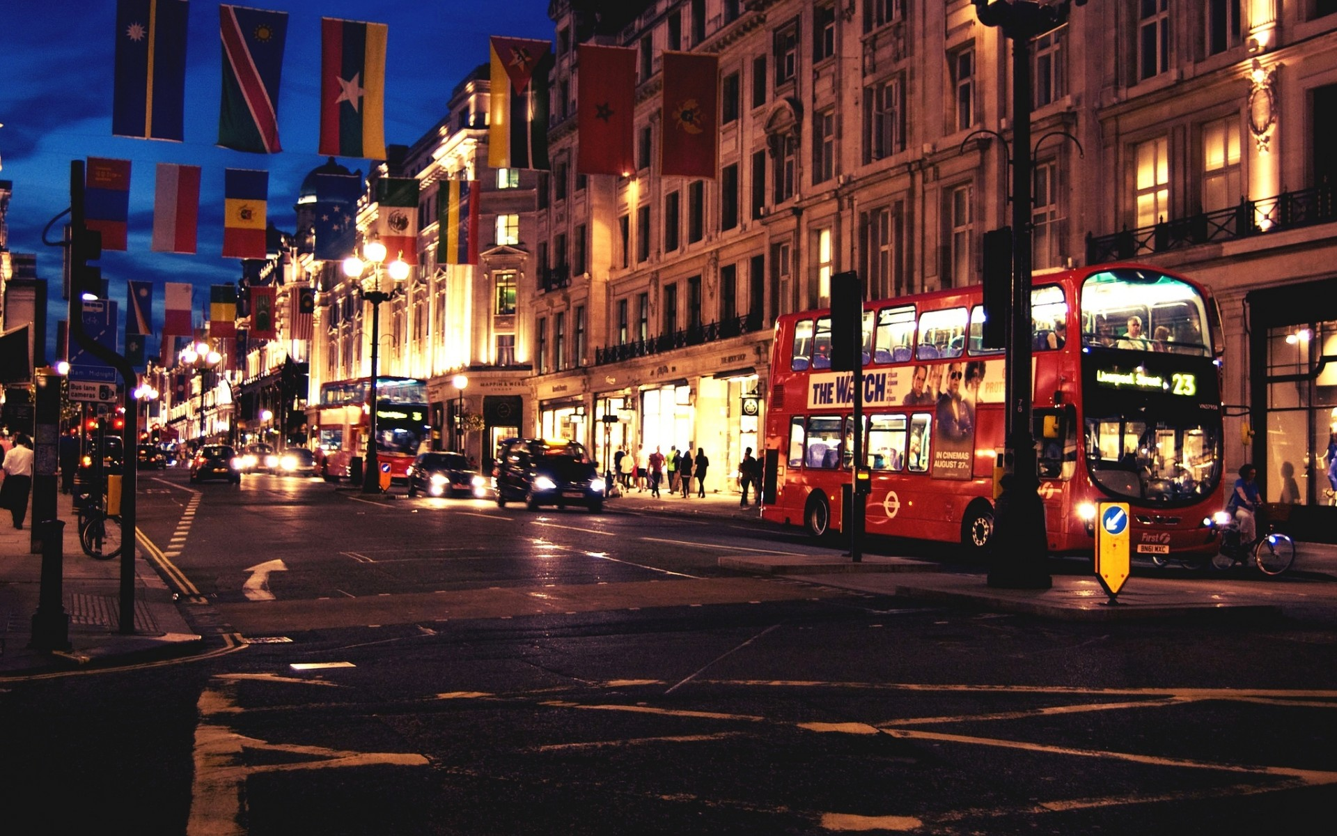 London England Great Britain cities architecture buildings roads bus 1920x1200