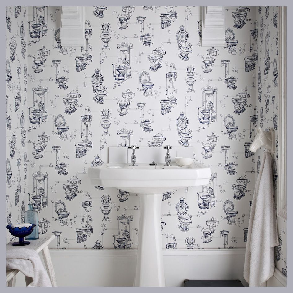 Pin by Chelsea Ashline on Bathroom Galore Wallpaper toilet 945x945