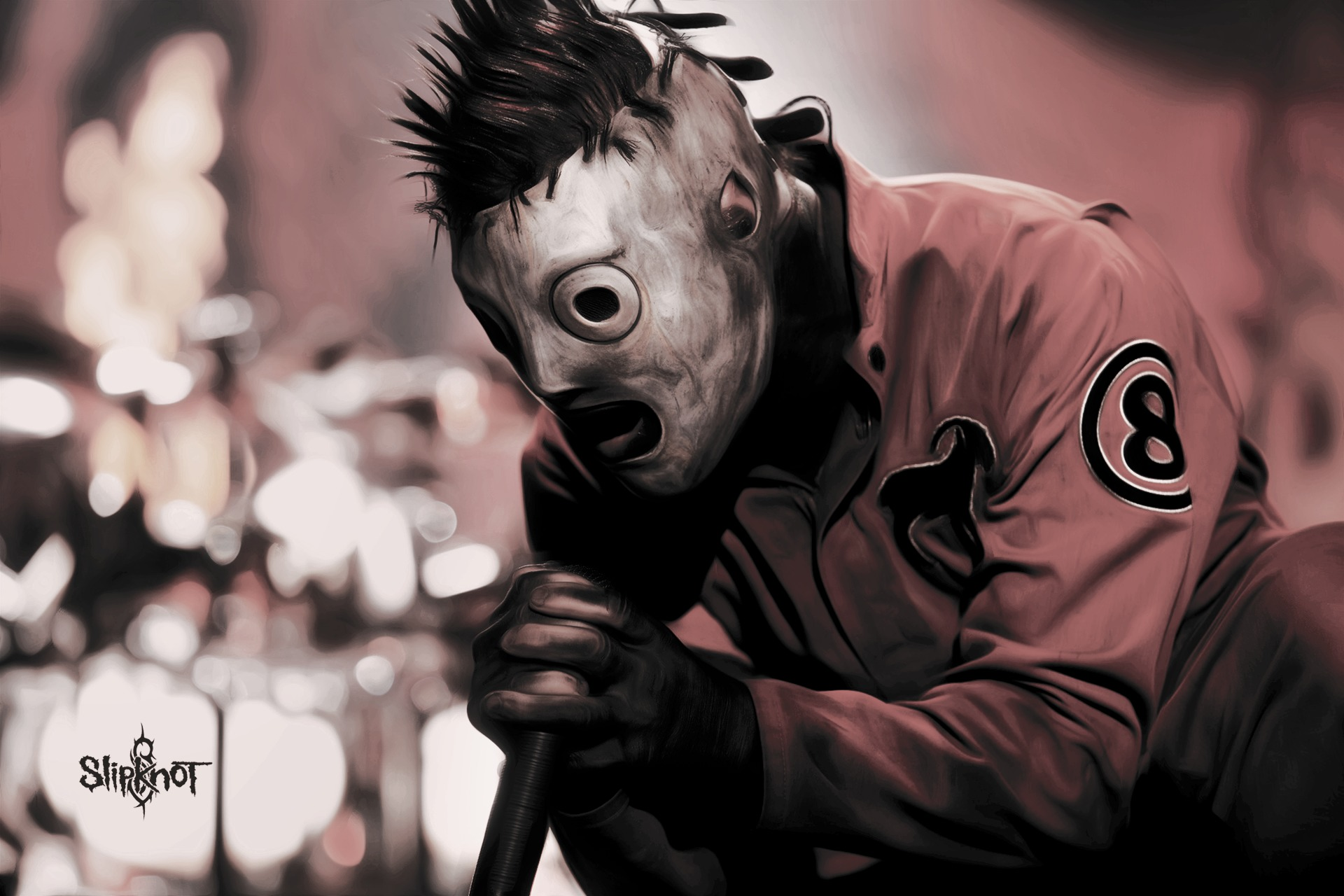 Wallpaper corey taylor slipknot metal rock music mask 1920x1280