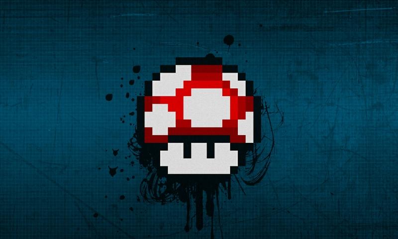 Mario Mushroom Desktop Background Mario 1280x768 wallpaper 800x480