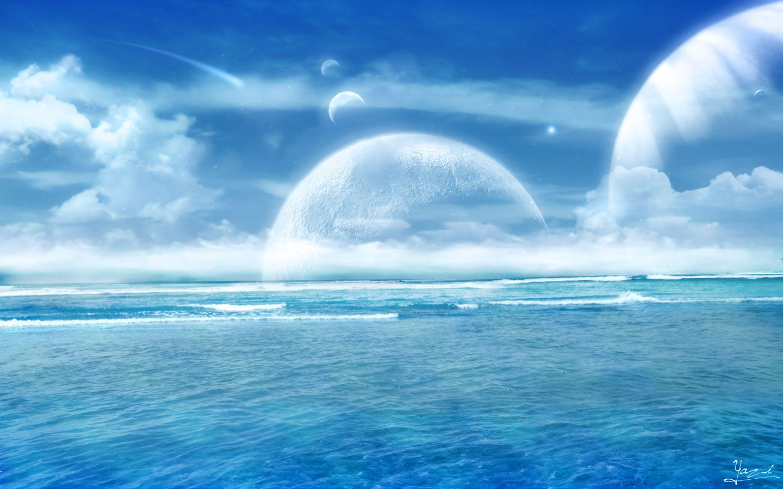 Bring me the horizon By Xyazix in devianart blue cloud 1440x900