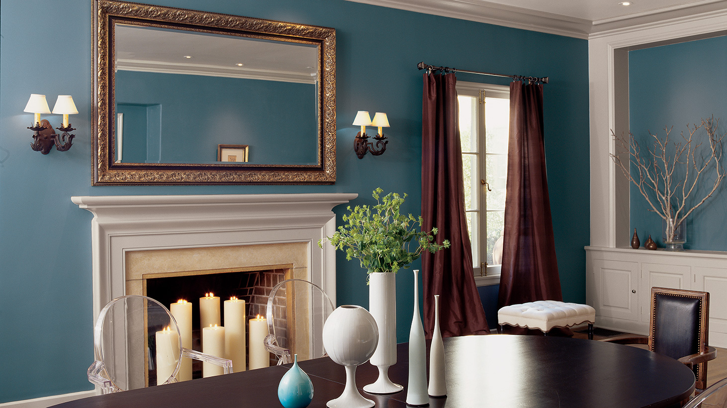 in Blues   Accent Walls for National Painting Week   Sherwin Williams 1462x820