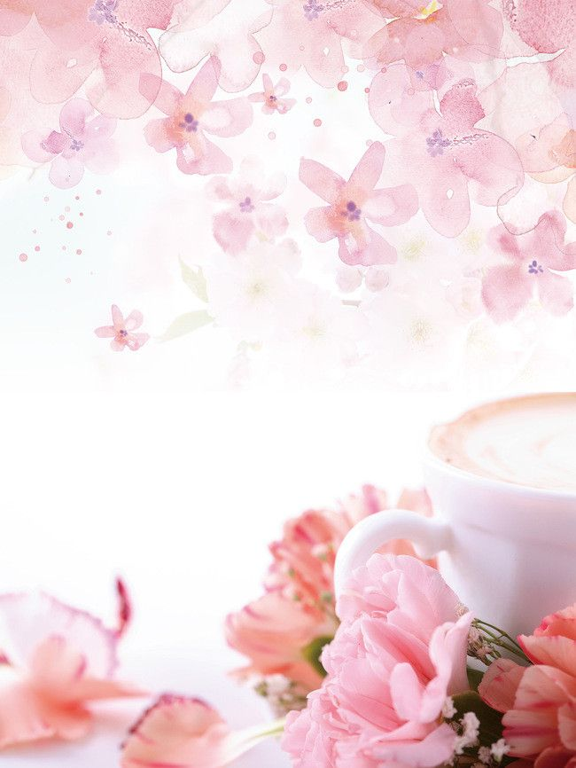 Warm Flowers Coffee Teachers Day Poster Background Psd DRINK BG 650x866