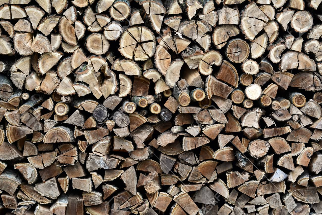 Chopped Firewood Background Firewood Stack For Fire Stock Photo 1300x866