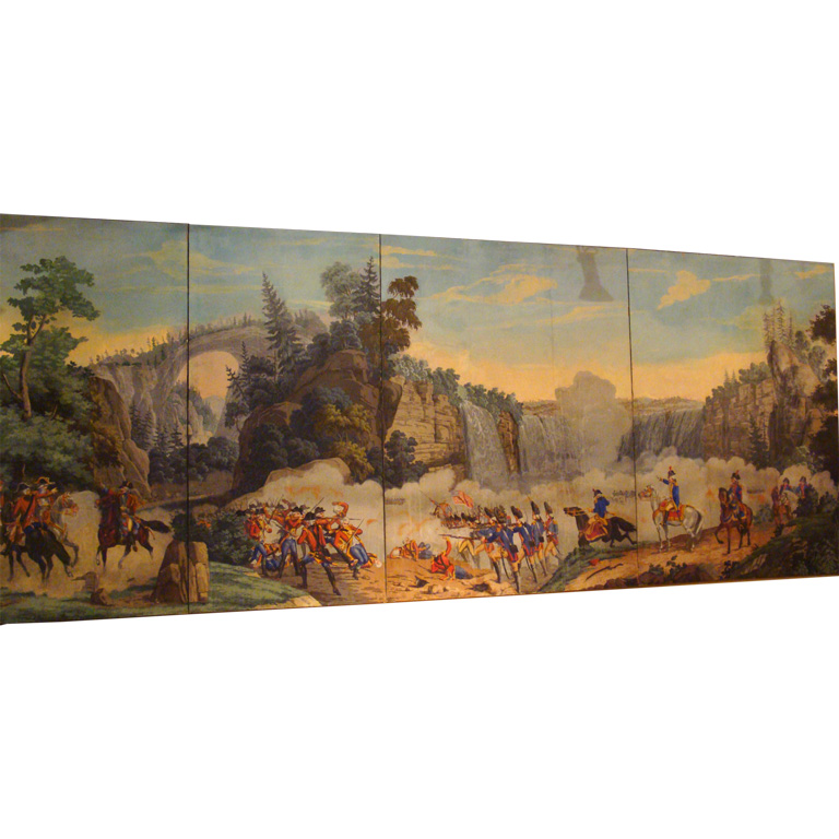 Zuber Hand Painted Paper Panels at 1stdibs 768x768