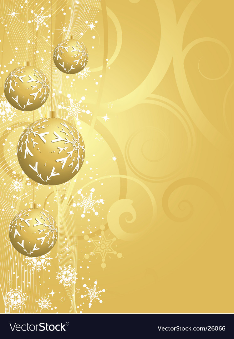 Gold Christmas background Royalty Vector Image 748x1080