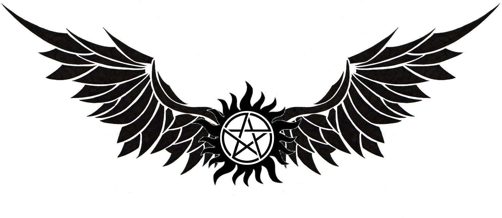 supernatural logo tattoos - 1657×721
