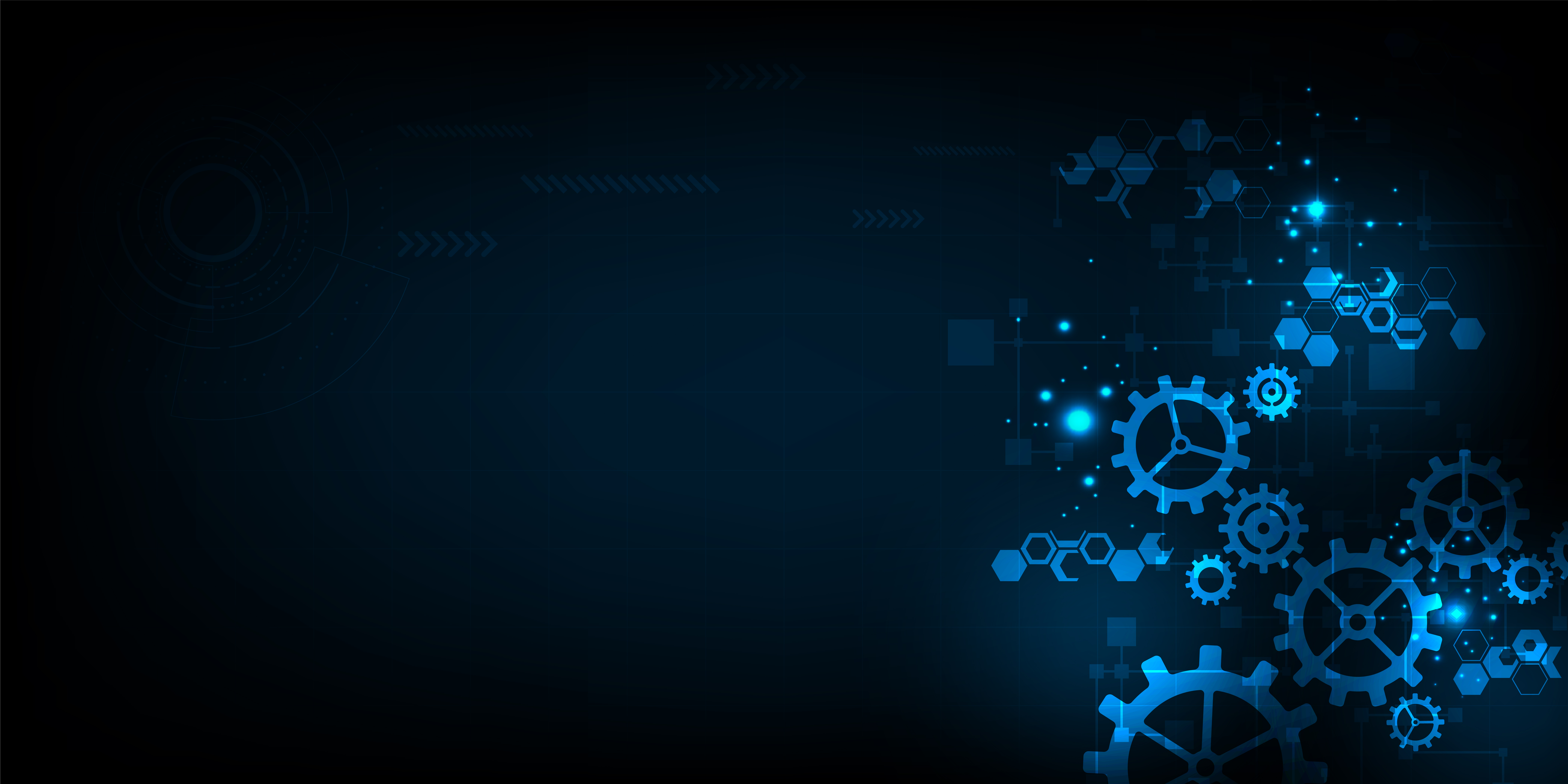 Futuristic mechanical gears background   Download Vectors 8334x4167