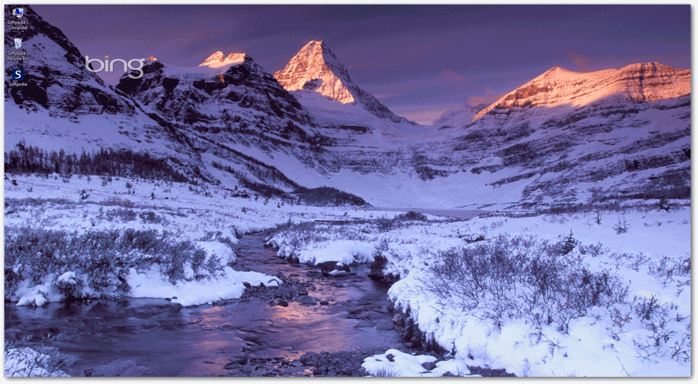 Bing Winter Screensavers 1361x748