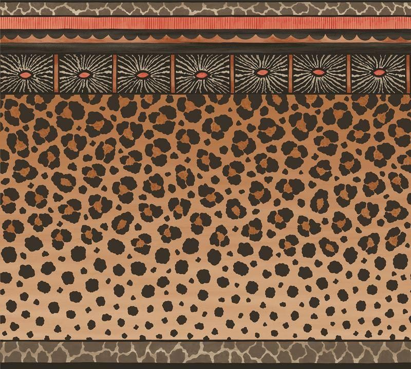 Cole Son Wallpaper 10913060CS Zulu Border Red Brown Cole 800x719