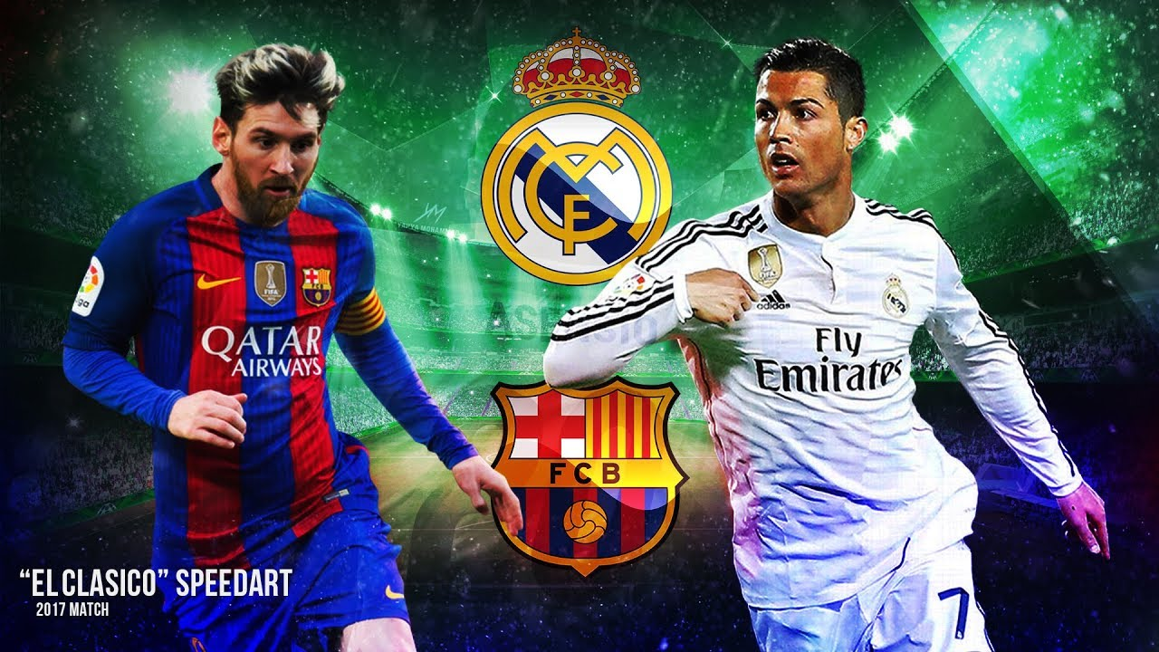 El Clasico HD Image Speedart   Ronaldo VS Messi Background 1280x720