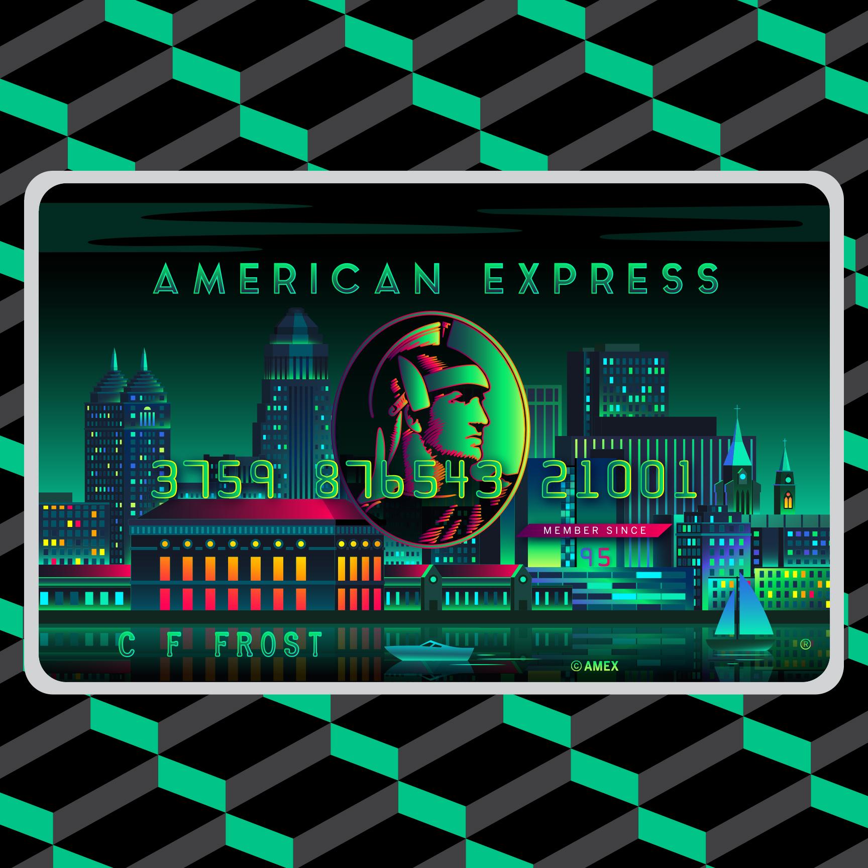 American Express Card Art AHA Design 1728x1728