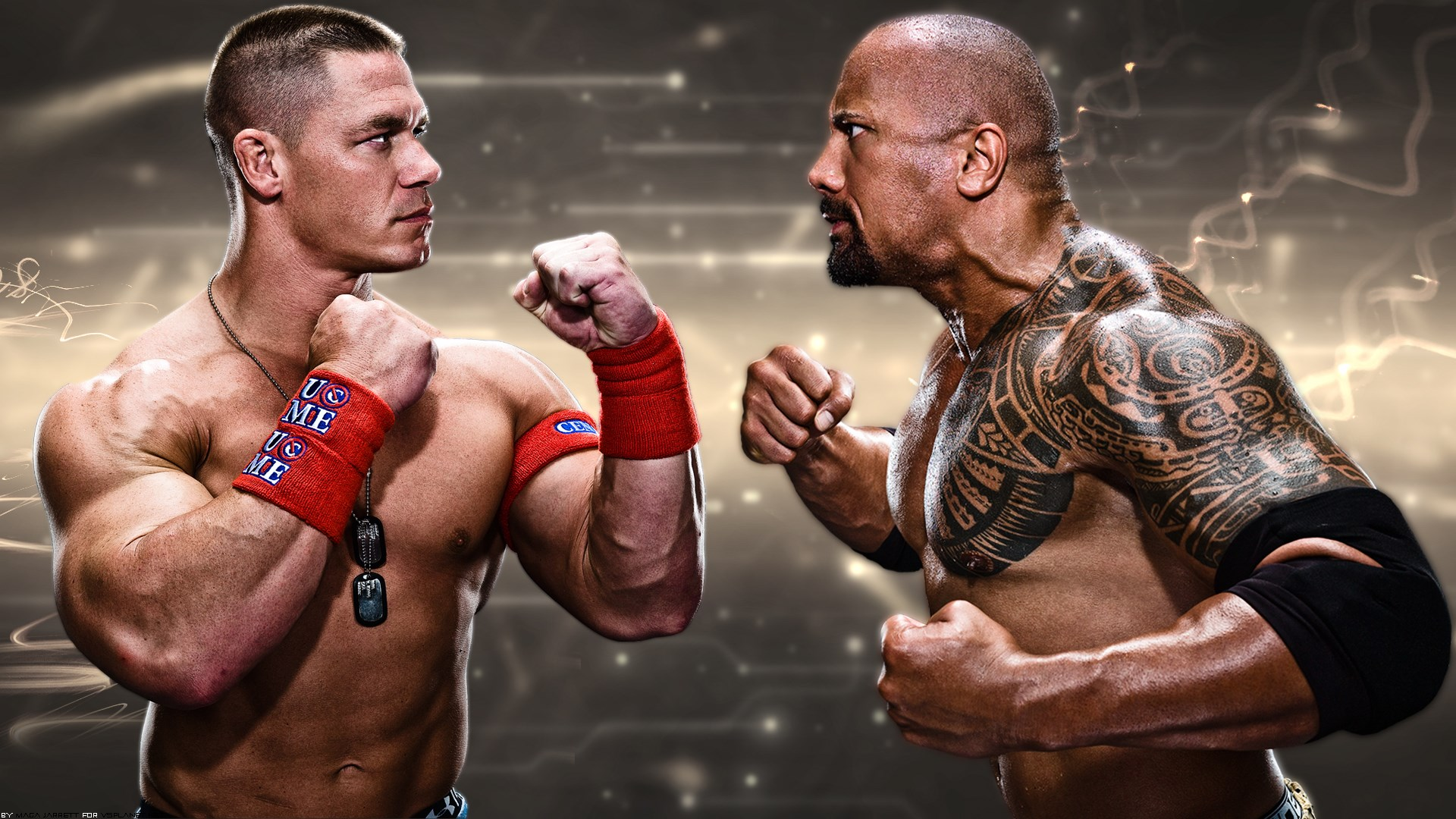 John Cena Vs The Rock Wrestlemania 11503 Wallpaper Wallpaper hd 1920x1080