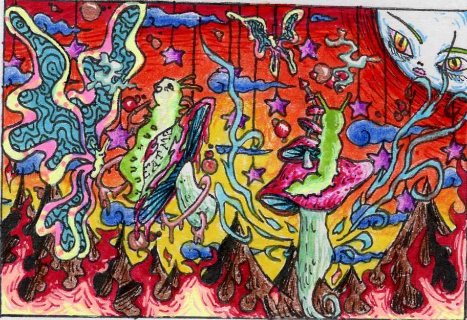 Psychedelic Smoke Wallpaper [50+] Trippy Stoner Wa...