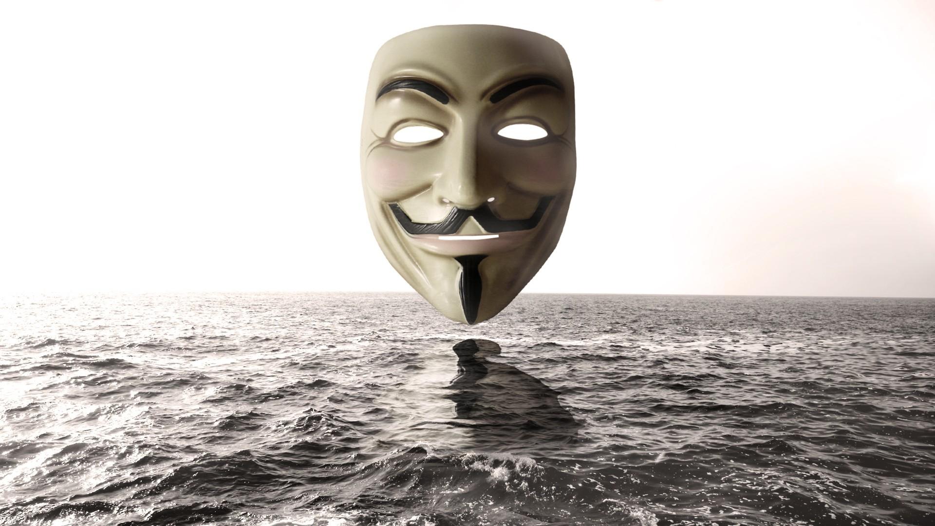 Anonymous Mask Wallpap...V For Vendetta Mask Wallpaper