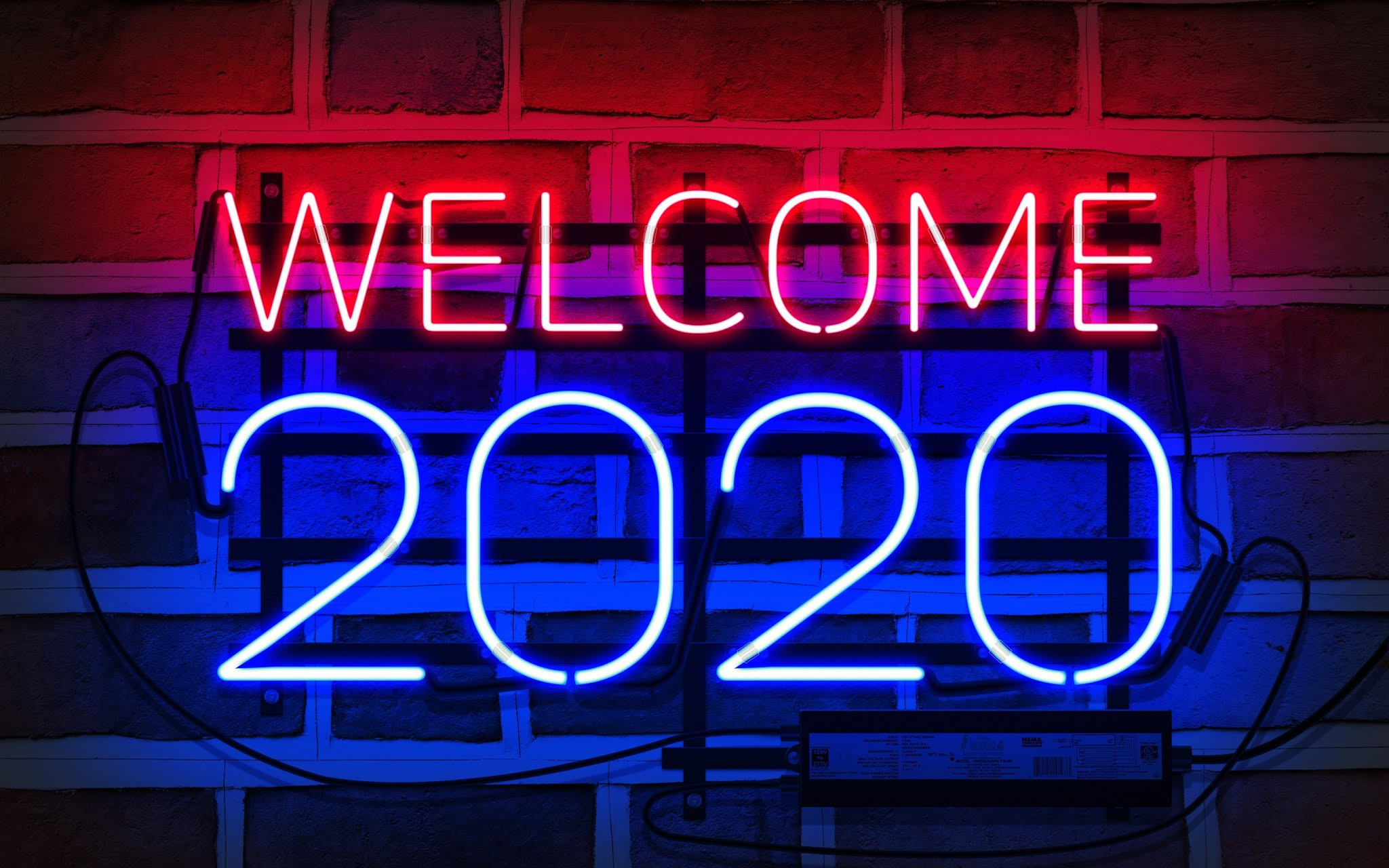 2020 New Year Wallpaper 2048x1280