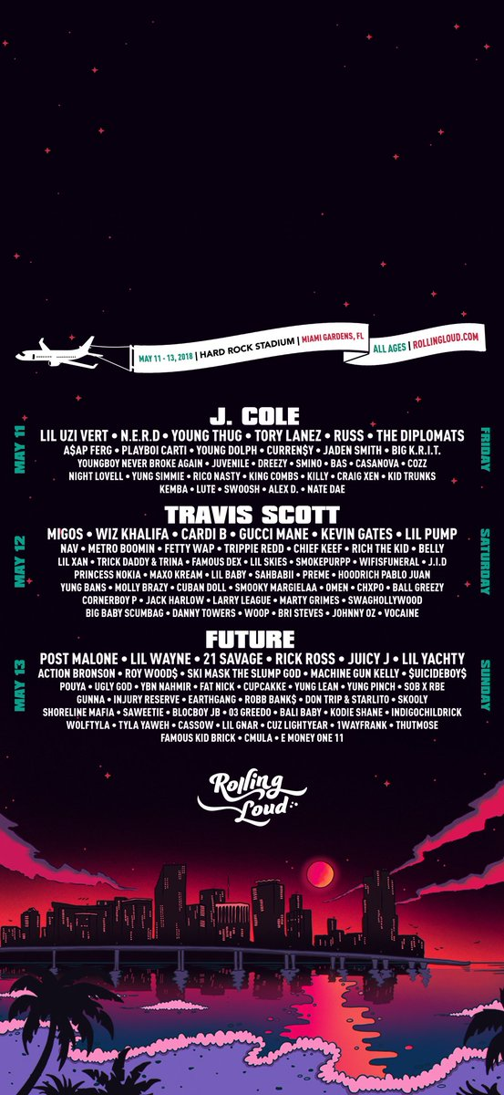 Rolling Loud on Twitter Miami 2018 wallpaper iPhone 8 iPhone X 553x1200