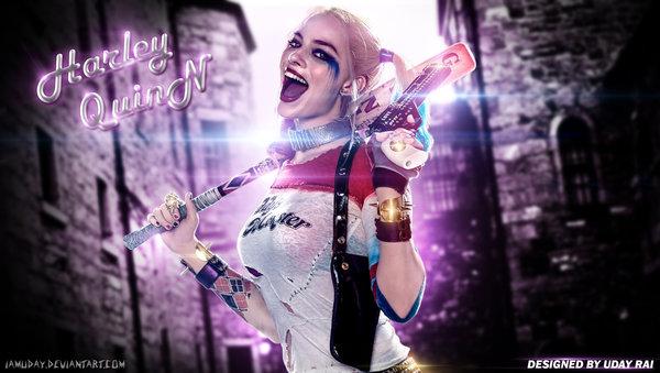 Harley Quinn   Margot Robbie HQ Wallpaper by iamuday 600x339