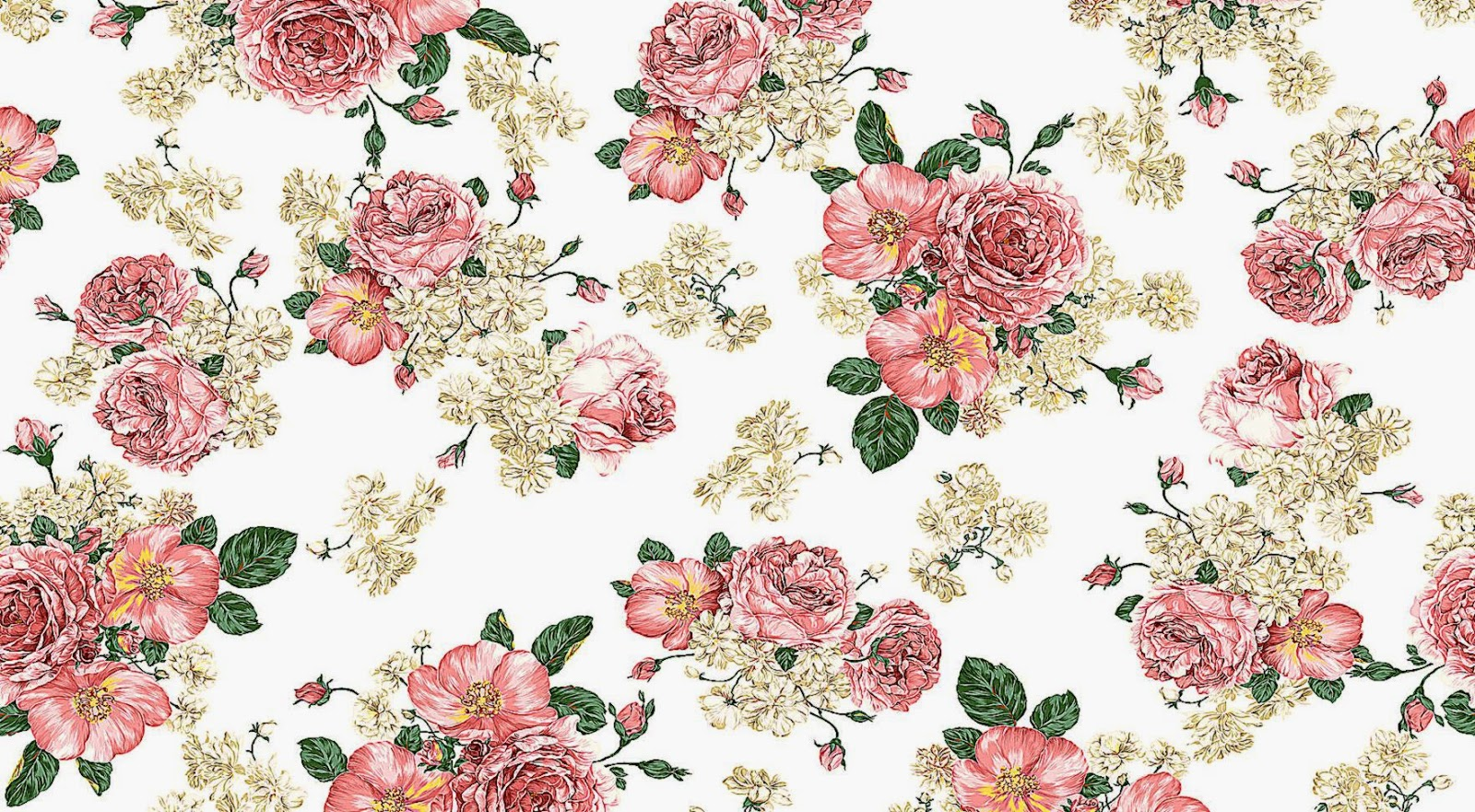 46 Flower Pattern Wallpaper On Wallpapersafari