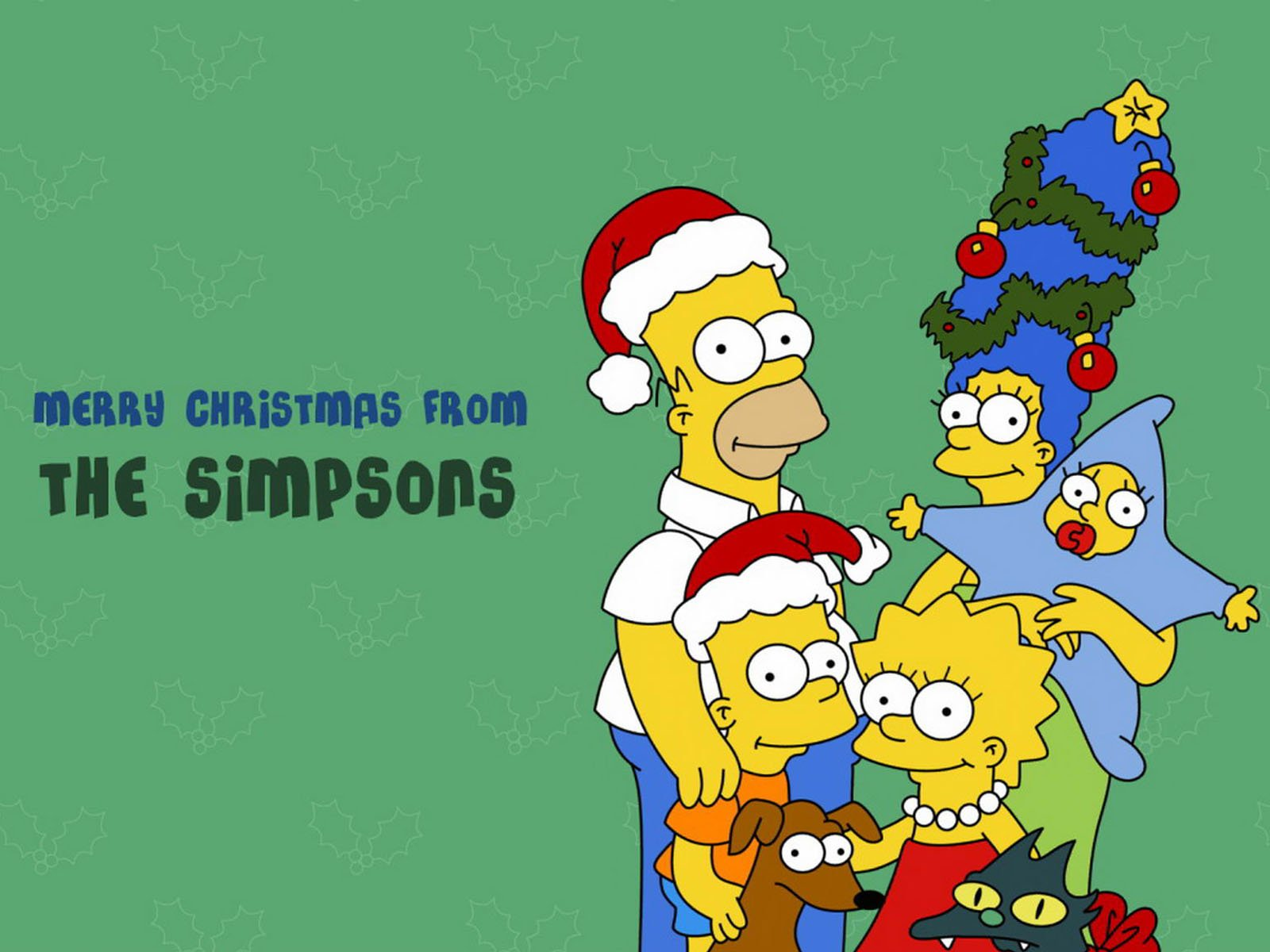 Merry Christmas from The Simpsons Wallpaper   Christmas Cartoon 1600x1200