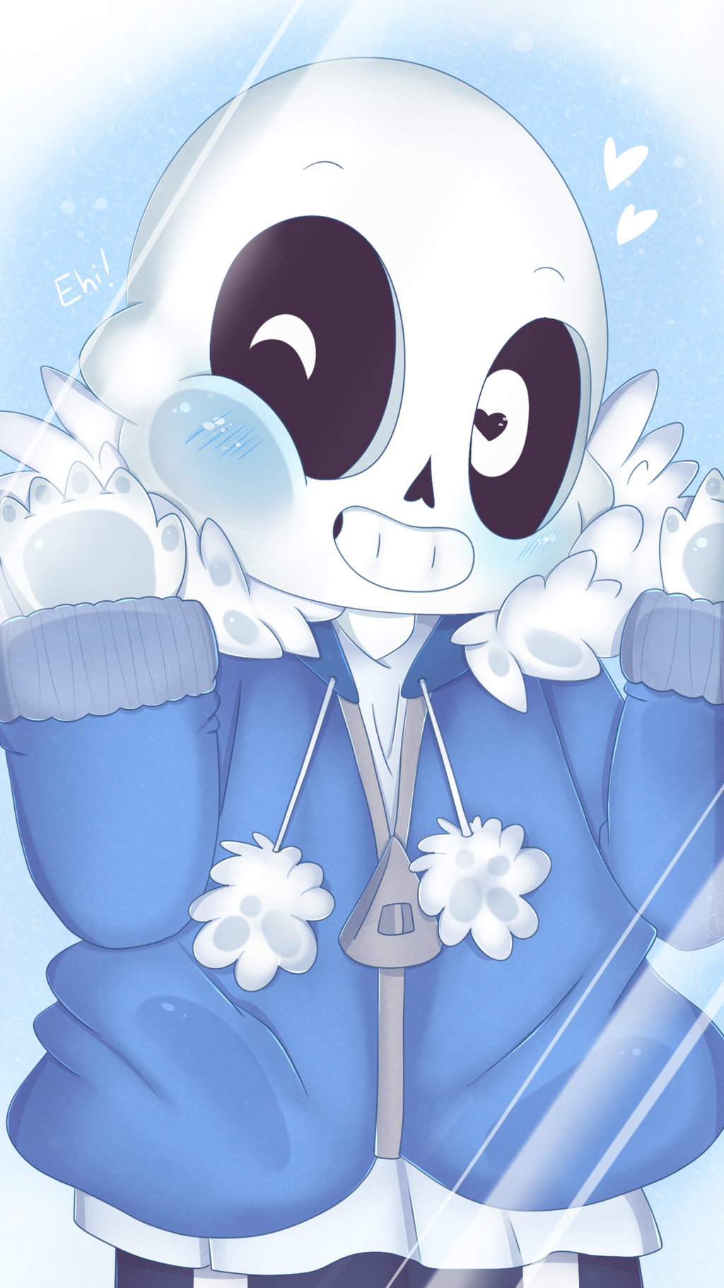 Undertale Smartphone Wallpaper   Chibi Sans by TogeticIsa on 1024x1820