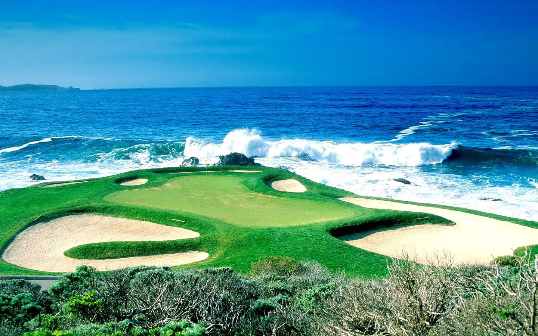 Golf Course Beautiful Beach Wallpaper Download cool HD wallpapers 1440x900