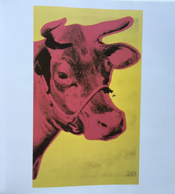 Warhol Cow Wallpaper 1966 An Original Book Page Print from Vintage 570x631