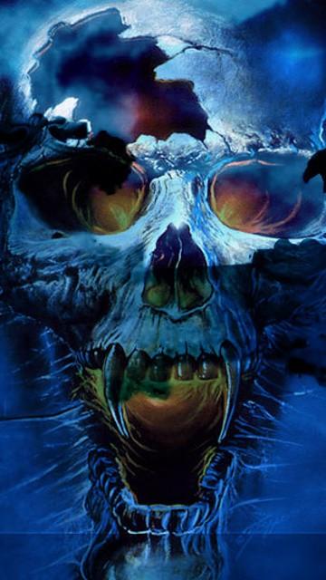Scary Skull 360x640