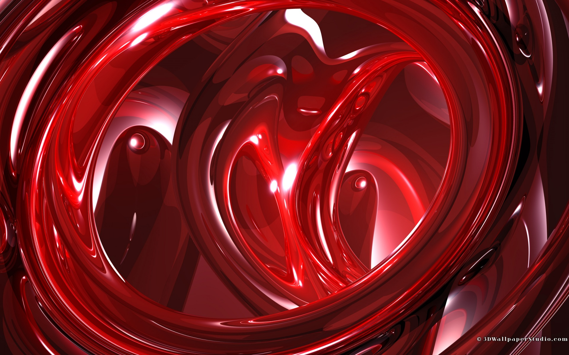Red 3d abstract wallpapers 1920x1200