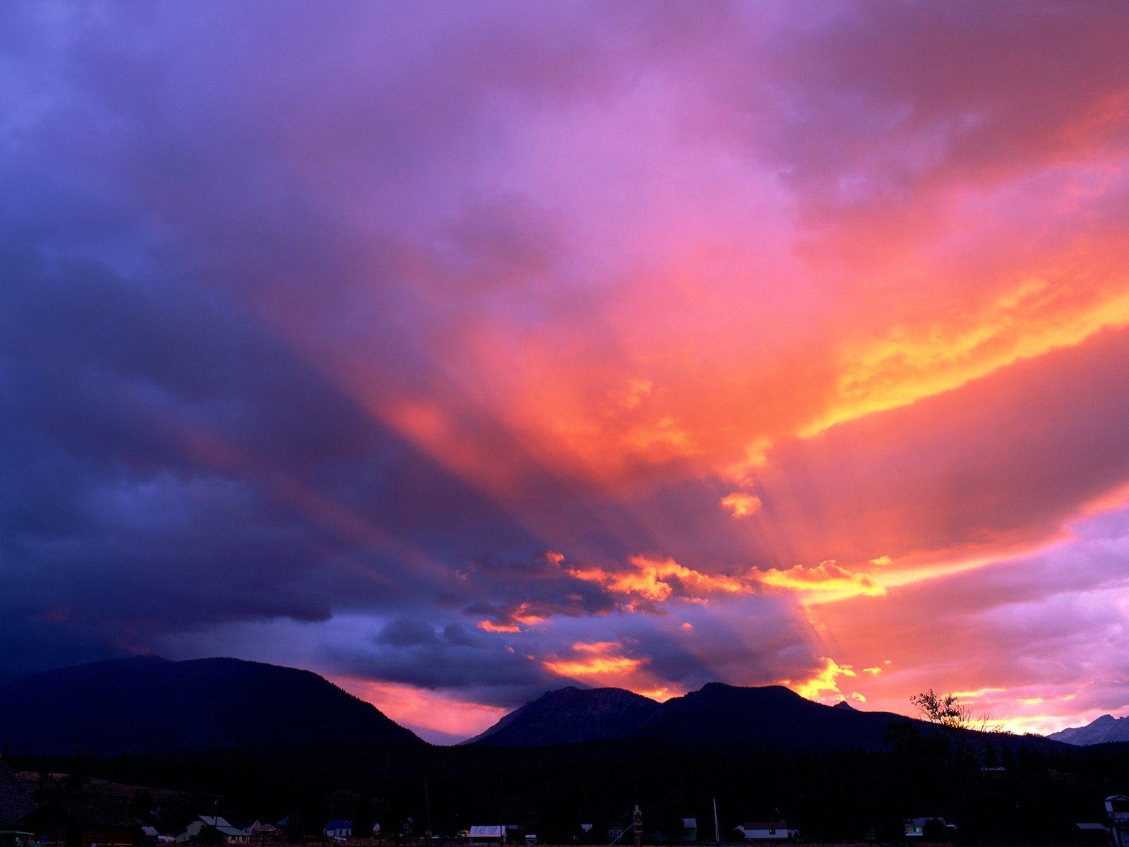 Sunset clouds wallpaper Wallpaper Wide HD 1600x1200